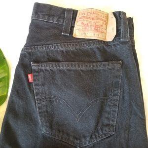 Levi's 501 Jeans Black Straight Leg Button Fly